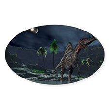 Spinosaurus witnessing a lunar impa Decal