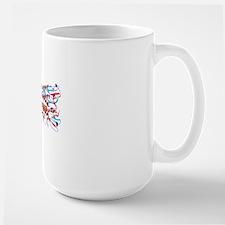 Spanish flu H1 antigen, molecular model Mug