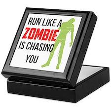 Run like zombie is chasing you Keepsake Box