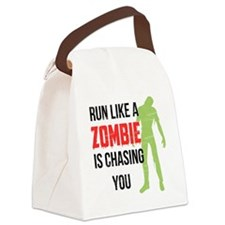 Run like zombie is chasing you Canvas Lunch Bag