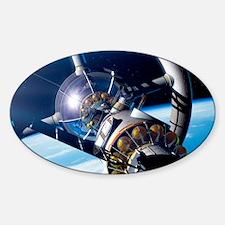 Space hotel Sticker (Oval)