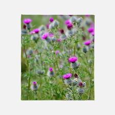 Spear thistle (Cirsium vulgare) Throw Blanket