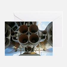 Soyuz A-2 rocket nozzles Greeting Card