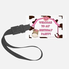 Cow Sign Luggage Tag