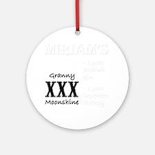Miriams Granny Moonshine Round Ornament