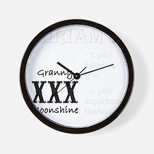 Miriams Granny Moonshine Wall Clock