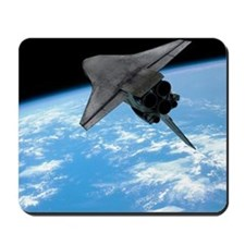Space shuttle entering Earth orbit Mousepad
