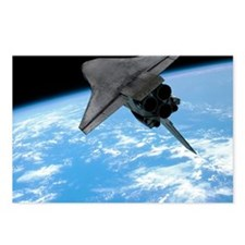 Space shuttle entering Ea Postcards (Package of 8)