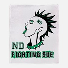 Fighting Sue Throw Blanket