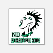 "Fighting Sue Square Sticker 3"" x 3"""