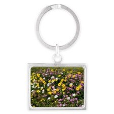 South African wildflowers Landscape Keychain