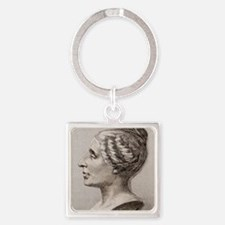Sophie Germain (1776- 1831) Square Keychain
