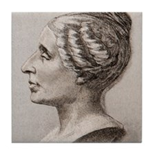 Sophie Germain (1776- 1831) Tile Coaster