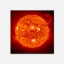 "Solar prominence Square Sticker 3"" x 3"""