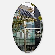 Solar-powered street light in Daeje Sticker (Oval)