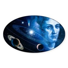 Solar system and Nicolaus Copernicu Decal