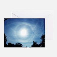 Solar halo Greeting Card