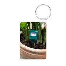 Soil pH meter in a plant p Aluminum Photo Keychain