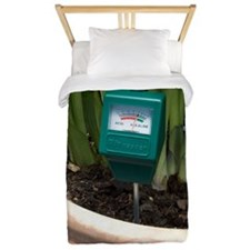 Soil pH meter in a plant pot Twin Duvet