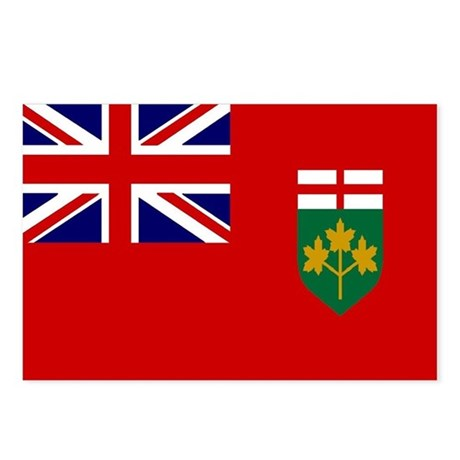 Ontario Flag Postcards (Package of 8)
