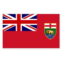 Manitoba Flag Rectangle Decal