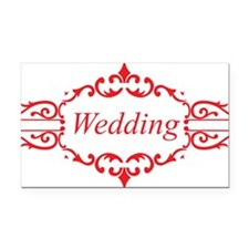 marriage29 Rectangle Car Magnet