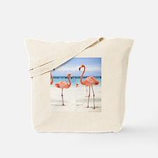Flamingo Flip Flops Tote Bag