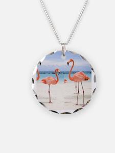 Flamingo Flip Flops Necklace