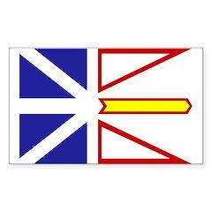 Newfoundland Flag Rectangle Decal