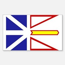 Newfoundland Flag Rectangle Decal