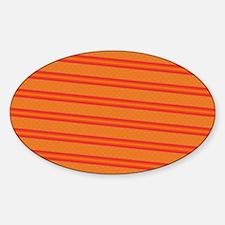 Elegant Orange Sticker (Oval)