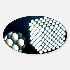 Sodium chloride cubic crystal Sticker (Oval)
