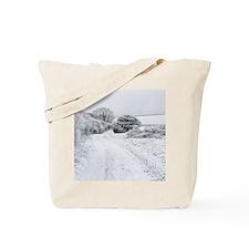Snowy landscape, Dorset Tote Bag