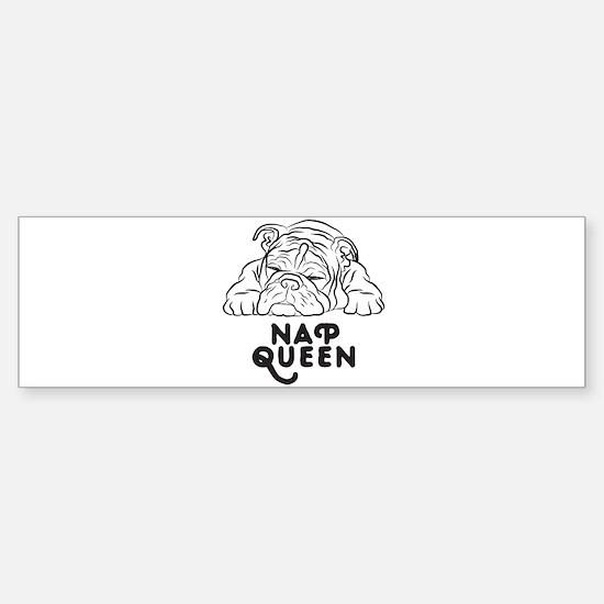 Napping Bulldog Bumper Bumper Bumper Sticker