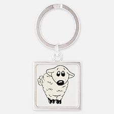Sheepy infant shirt Square Keychain