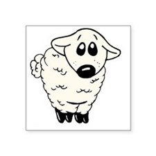 "Sheepy infant shirt Square Sticker 3"" x 3"""