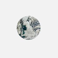 Snow-covered United Kingdom, January 2 Mini Button