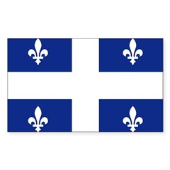 Quebec Flag Rectangle Decal