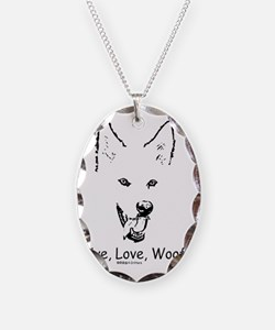 Live Love Woof Paws4Critters D Necklace