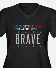 Land of the Free Because of the Brave Women's Plus