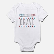 Land of the Free Because of the Brave Infant Bodys