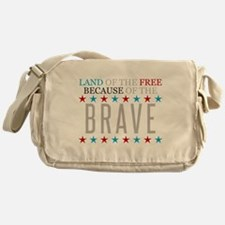 Land of the Free Because of the Brave Messenger Ba