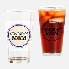 Komondor Dog Mom Drinking Glass