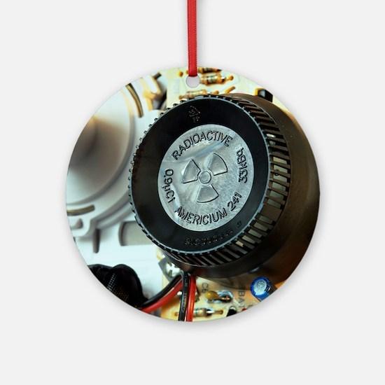 Smoke detector radiation source Round Ornament