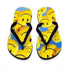 Smiley face symbols Flip Flops