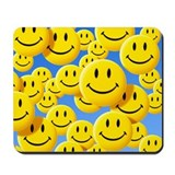 Yellow smiley Classic Mousepad
