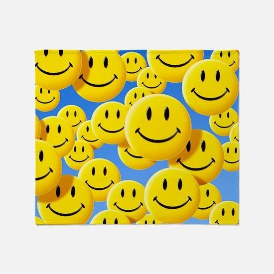 Smiley face symbols Throw Blanket