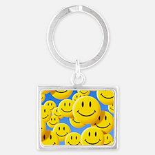 Smiley face symbols Landscape Keychain