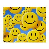 Smiley face Fleece Blankets
