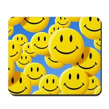 Smiley face symbols Mousepad